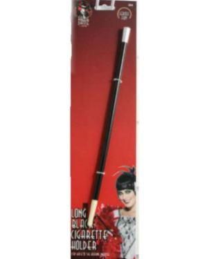 20s Flapper Long Cigarette Holder - Black